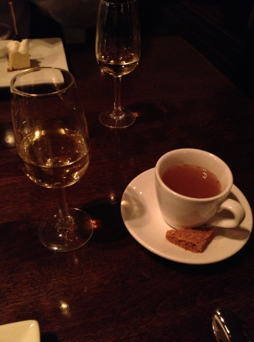 Sauternes and cider-- perfect with the desserts!