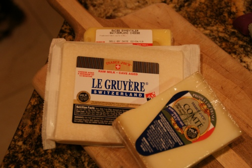 My cheese trifecta