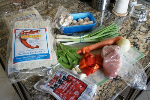 Pancit ingredients