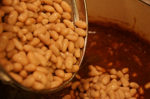 Don't forget to rinse the beans before adding them!