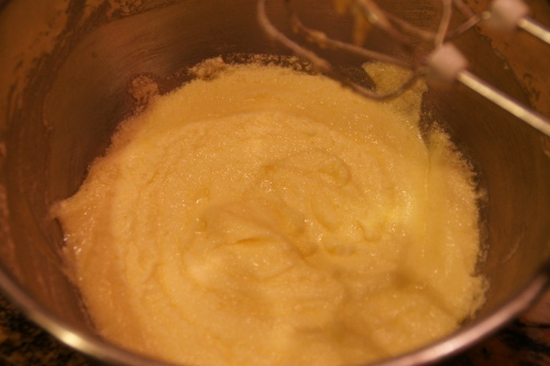 Don't add the next egg til the first is completely blended into the sugar/butter mixture