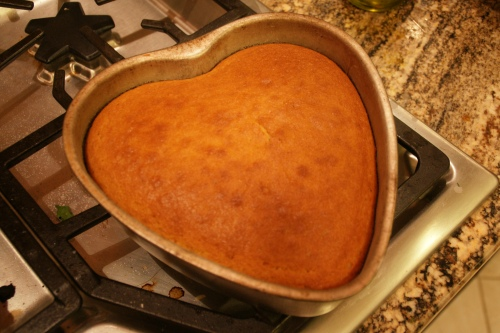 Golden brown and cake has shrunk slightly from edges of the pan