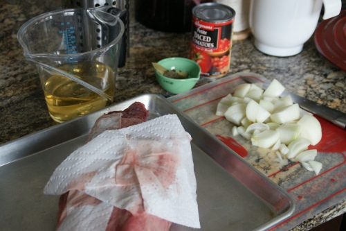 Yes, dry the meat off so that it will brown well!