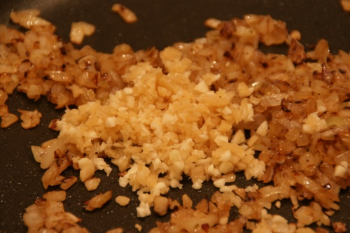 I didn't make a paste of garlic and ginger, I just finely chopped some of both