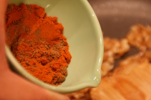 Beautiful colors-- especially the red chilli powder!