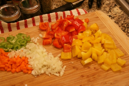 Prep the veg