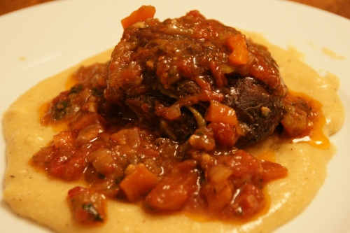 My polenta with Kurt's braised shanks-- we had multiple servings...