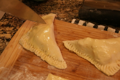 Cut vents to allow steam to escape and pastry will rise!