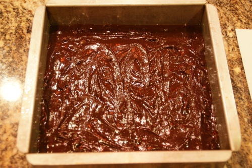 Yum-- a thick and chocolatey batter!