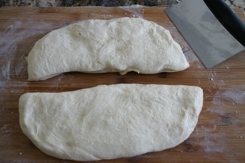Cut the dough lengthwise