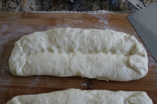 The center line is really just a guideline for when you fold the dough on itself