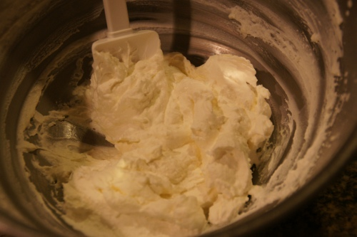 I over beat this cream, for sure.  It was almost like butter...