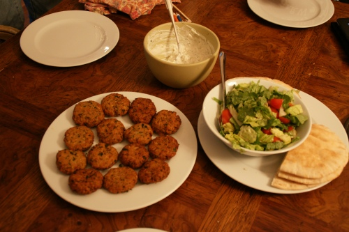 Falafel and fixin's