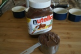 One CUP of Nutella for six ramekins - you do the math!